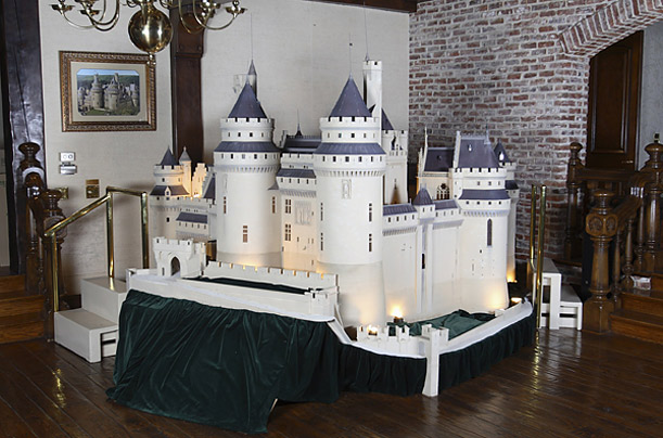 A scale model of Schloss Neuschwanstein, the inspiration for Disney's Sleeping Beuty Castle