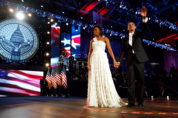 Inaugural Ball Michelle Obama's Jason Wu Dress