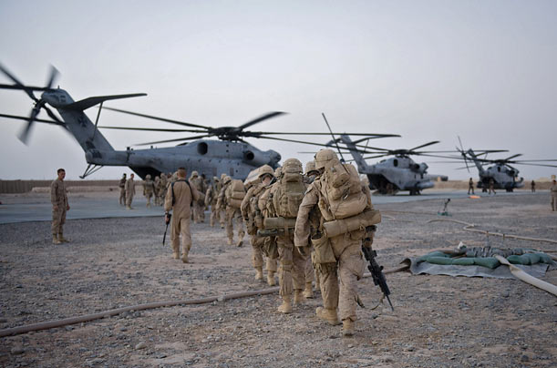 Almost 4,000 Marines, backed by helicopter gunships, pushed into the Helmand River Valley on the morning of July 2 as part of an effort to regain control of the region from the Taliban.