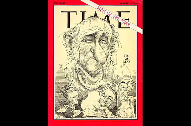 David Levine's TIME Covers: Lyndon Johnson, 1968