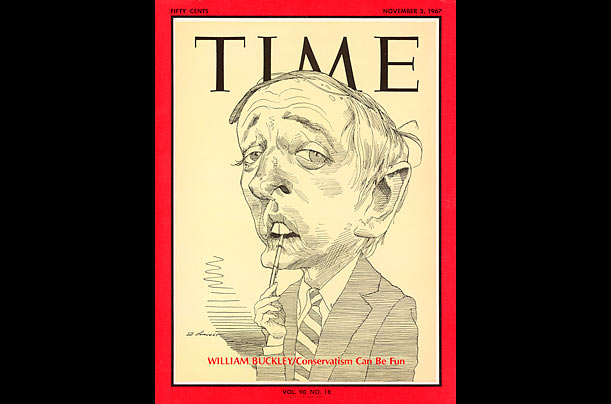 David Levine's TIME Covers: William F. Buckley Jr., 1967