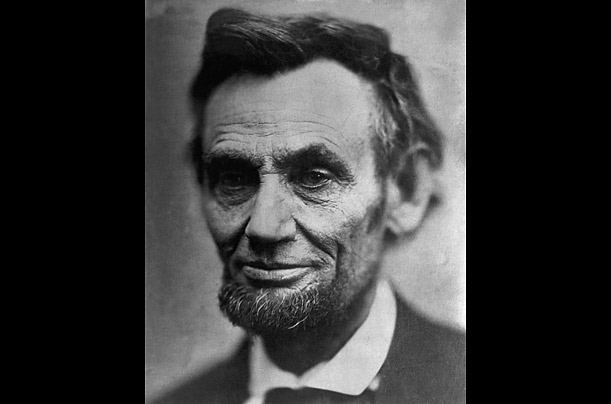 Scholars estimate that Lincoln sat for 33 photographers and 127 portraits in his lifetime, 37 of them, like the one above, by Alexander Gardner.