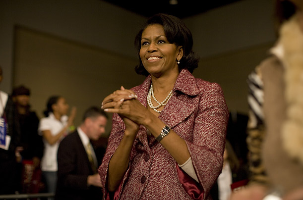 The Looks of Michelle Obama A year of behind-the-scenes photos of the new First Lady