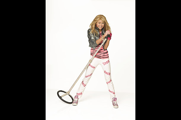 Sixteen-year-old Miley Cyrus is the star of Disney channel's Hannah Montana (ital), a show about a