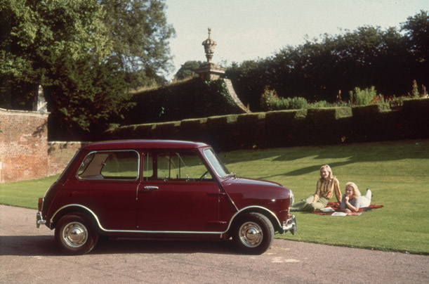 The Mini was especially popular with the female market because of its neat handling and attractive shap