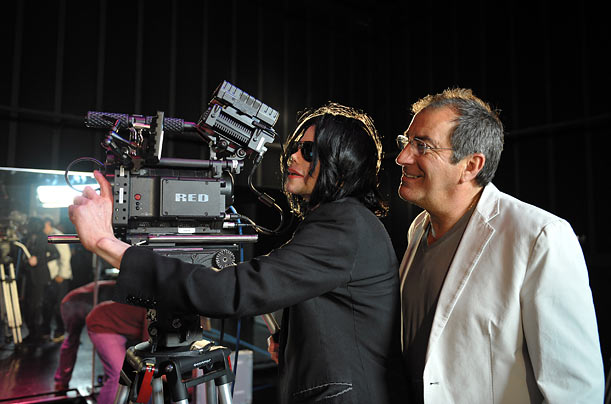 Jackson works with choreographer/director Kenny Ortega in a photo taken on May 6, 2009.