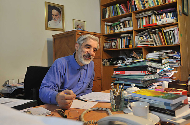 Portrait of Mir-Hossein Mousavi