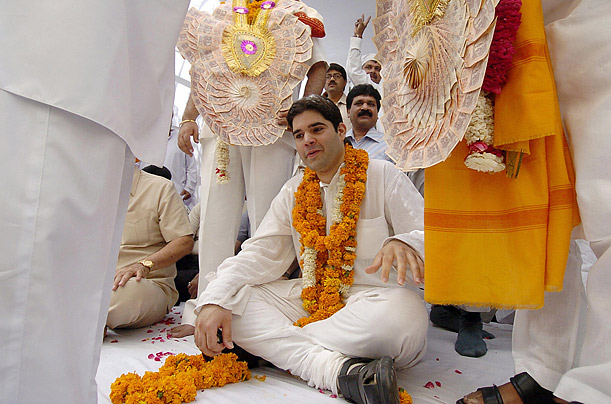 Varun Gandhi, 29, the son of Maneka Gandhi, has brought the ...