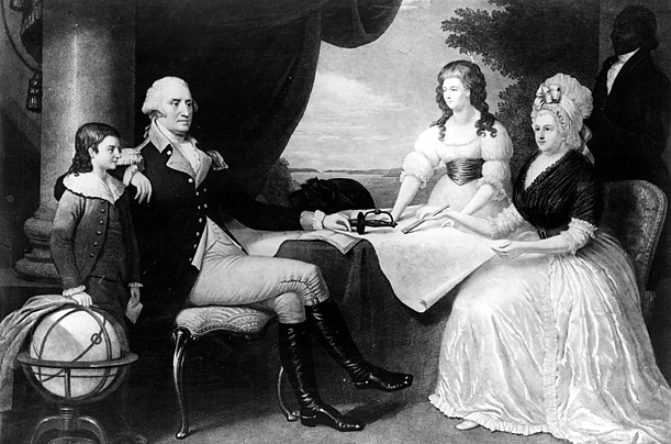 george washington family no biological children stepfather Martha Custis
