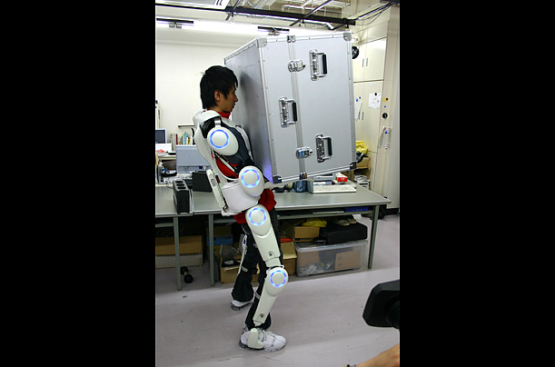 Cyberdyne's Real Robot suit  A Japanese company has developed a wearable Hybrid Assistive Limb