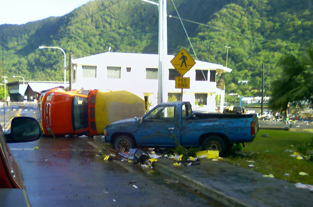 devastation caused by tsunami in samoa