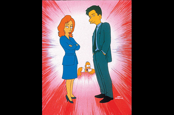 Simpsons Guest Voice Appearance: Gillian Anderson and David Duchovny