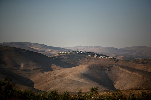 Kfat Adomim is one of several communal Israeli settlements in the Judean Desert, part of the area called the West Bank.