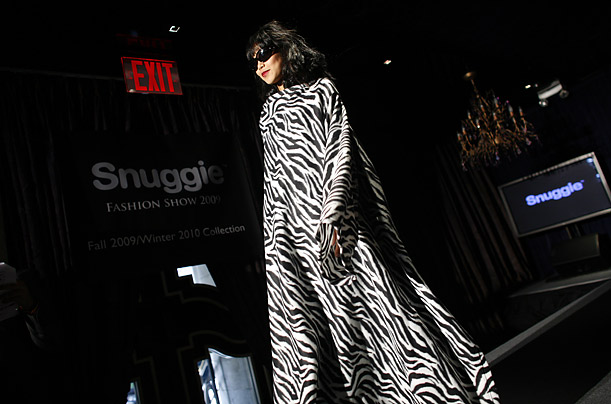 Snuggie on the Runway at Fashion Week