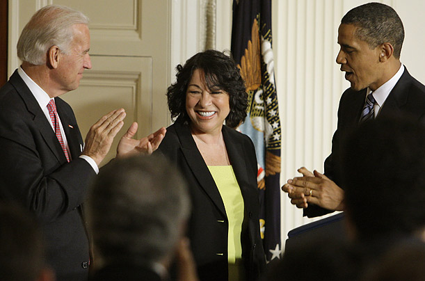 Judge Sonia Sotomayor is nominated to the Supreme Court A Hispanic woman judge is Obama's choice to become the next Associate Justice of the High Court