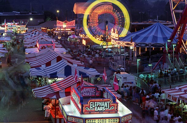 In many states, the fairs continue to draw huge crowds each year.