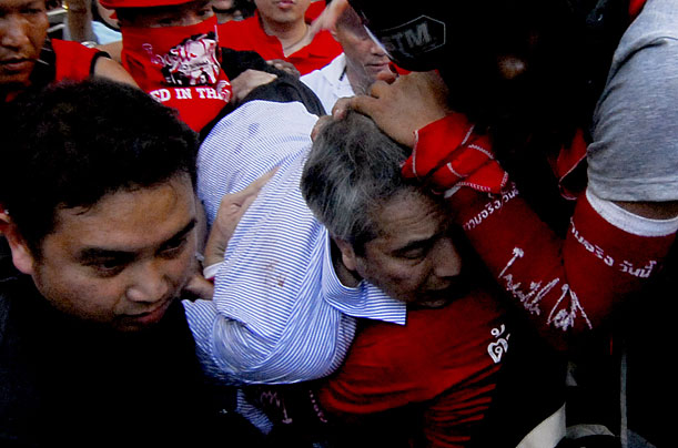 Red Shirt protestors, many of whom hail from rural Thailand and are strong supporters of ousted former P.M. Thaksin Shinawatra