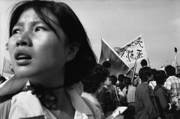 In April of 1989, university students descend on Beijing's Tiananmen Square