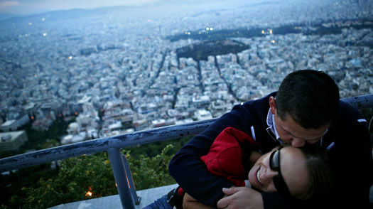 Lycabettus: The highest hill inside Athens, offering a romantic panoramic view of the city