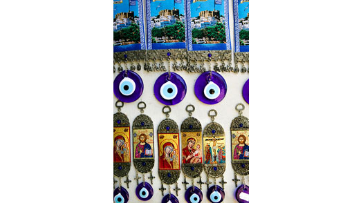 Souvenirs and Evil Eyes, Monastery of St. John the Theologian, Hora, Patmos, Greece