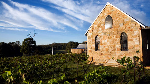 Wine country wedding chapel, vineyard, in Hunter Valley, Sydney