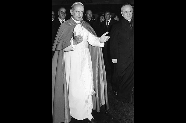 At Vatican II, the church adopts Nostra Aetate, which absolves the Jews of blame for the death of Jesus.