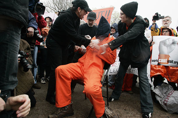 Waterboarding protests