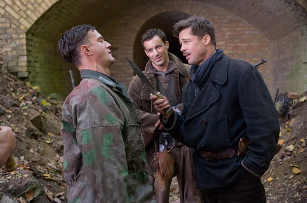 Inglourious Basterds Brad Pitt Quentin Tarantino World War II movies