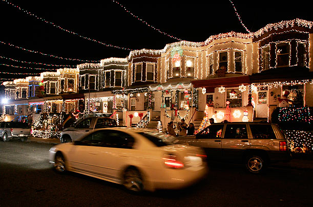 Since 1989, every resident on the 700 block of 34th street has put up Christmas lights. The tradition is locally known as