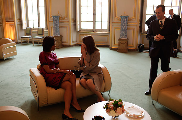 Michelle Obama and Carla Bruni-Sarkozy