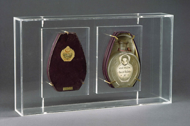 A perfume bottle by French artist Marcel Duchamp carries an estimate of one million euros
