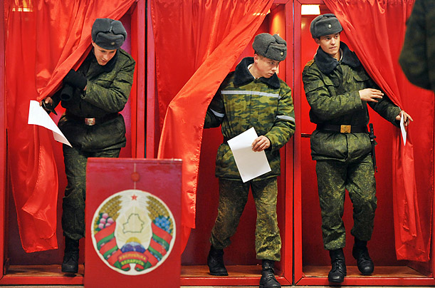 Since Alexander Lukashenko became President in 1994, the country has held sporadic elections. The Sunday vote was ostensibly for the Presidency.