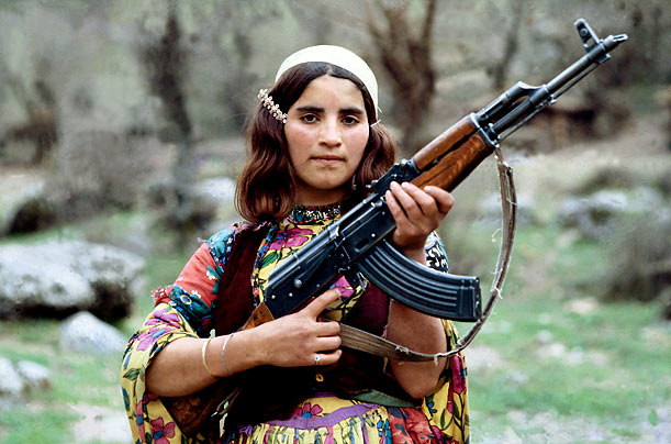 Zagros Mountains of Northern Iraq, 1979 Kalashnikov's design won a state competition in 1947 (thus the name AK-47) and went into mass production two years later.