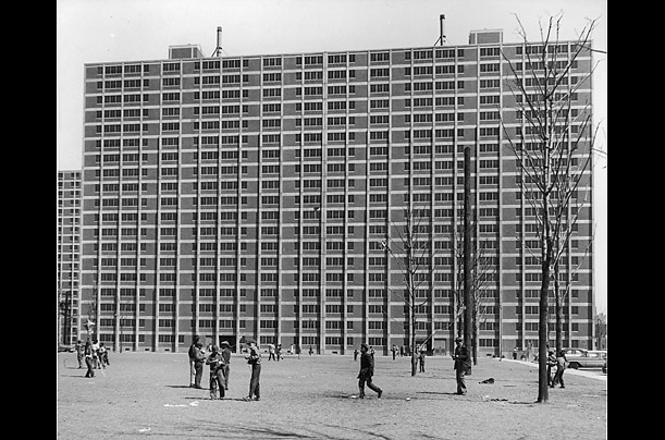 The Cabrini-Green public housing development was built over the course of 20 years as part of the Chicago Housing Authority's approach to the