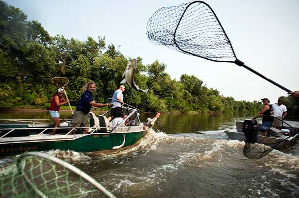 The Fish Are Flying — literally — at the Redneck Fishing Tournament