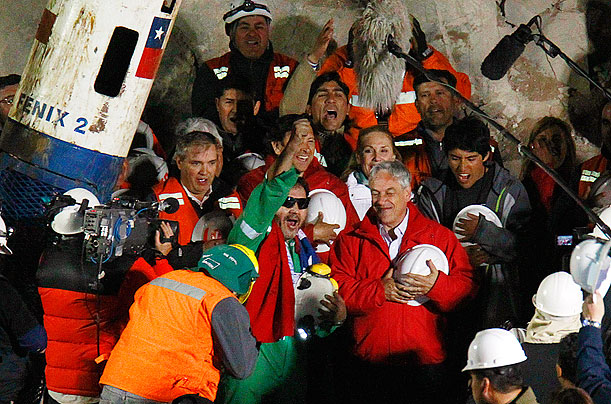 Rescue Workers Reach the Trapped Miners in Chile