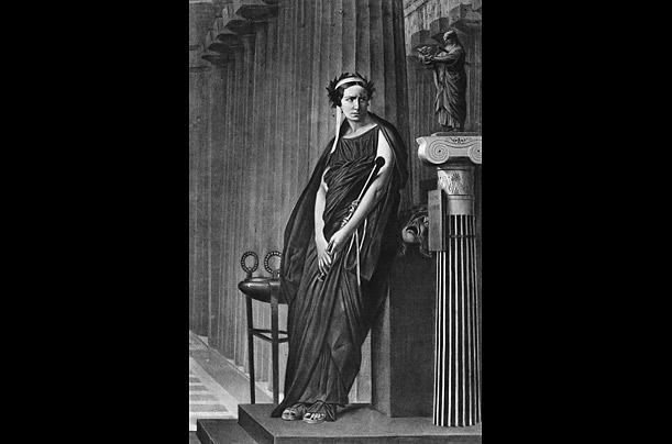 Actress Elizabeth Rachel Felix as Phaedra, stepmother to Hippolytus, c. 1887