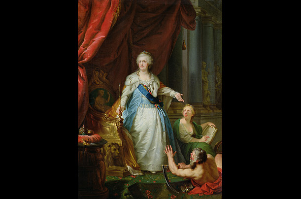 Portrait of Catherine II, 1792-93 (oil on canvas)