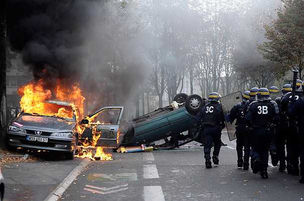 French Protests Turn Violent