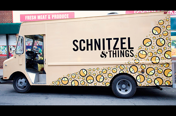Oleg Voss and Jared Greenhouse have reimagined street food in their own way with a colorful truck a catchy name, Schnitzel & Things, which MobileCravings.com, a nationwide