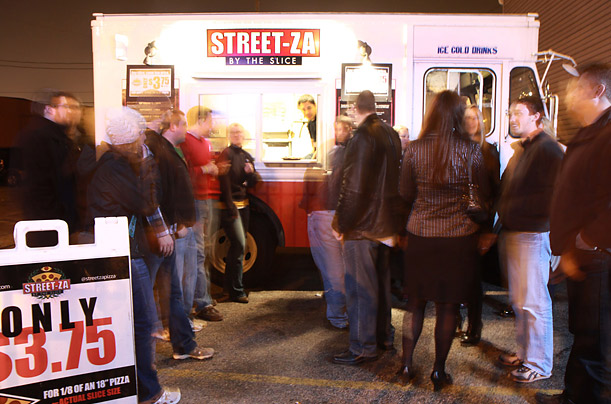 Who says pizza can't be fancy? Streetza, Milwaukee's cleverly named mobile pizza joint founded by Scott Baitinger and Steve Mai was named one of the top food trucks in the