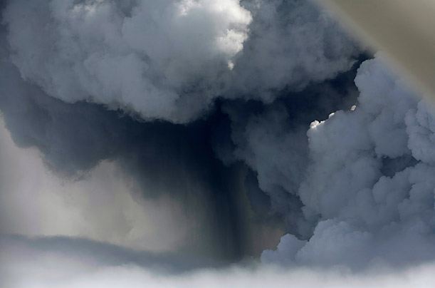 The Eerie Beauty of Iceland's Volcanic Eruption
