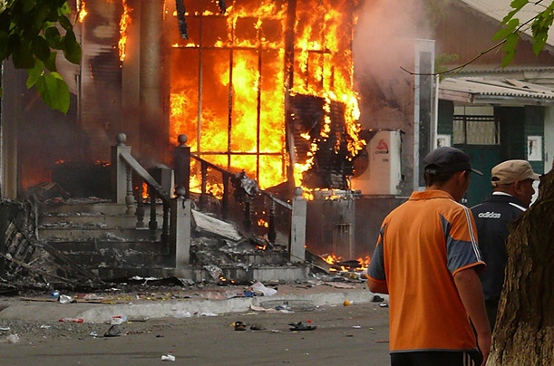 Violence erupted in Osh on June 11, as tension between Kyrgyz and Uzbek groups erupted in killings and the destruction of property.