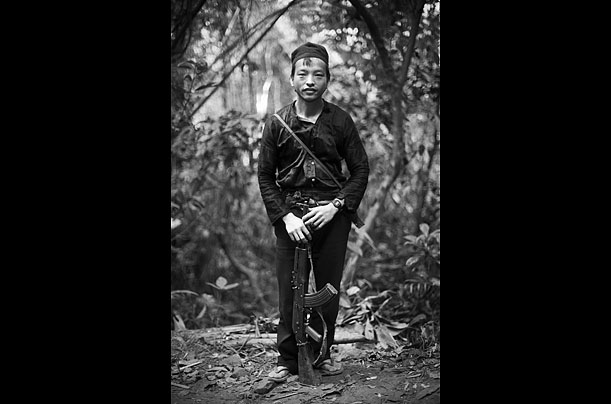 Hmong fighters, Laos