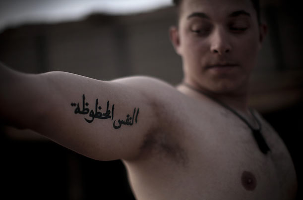 Marines' Tattoos in Marjah, Afghanistan