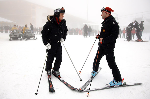 Putin and Medvedev's Ski Vacation