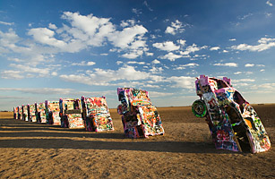 Cadillac Ranch Near Amarillo Texas Top 50 American