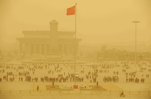 Sandstorms Hit Beijing