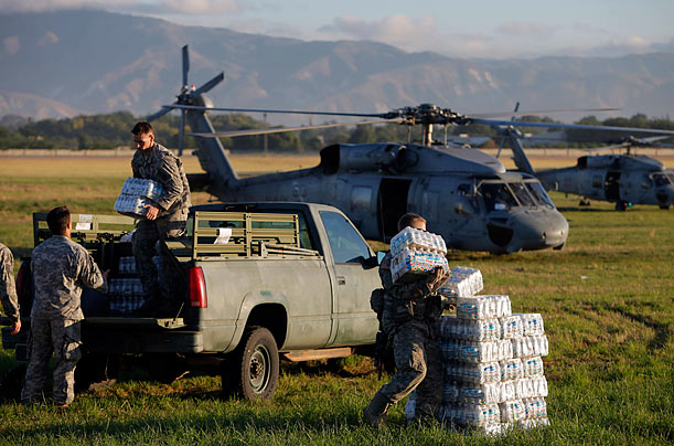The U.S. Army Delivers Aid to Haiti
