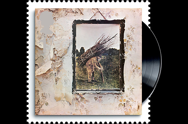 British Albums on Stamps: Led Zeppelin's fourth album